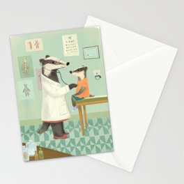 Badger Check-up Stationery Cards