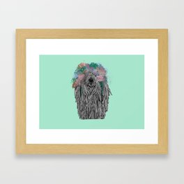 Dredlock Dog (Pastel Aqua Edition) Framed Art Print