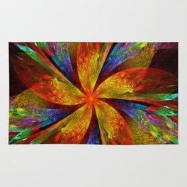 Painterly multicolor flower Rug
