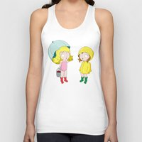 hunting Tank Tops featuring Crawfish Hunting by pixelsapien