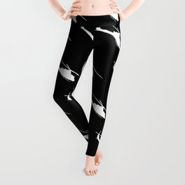 UH-1 Military Helicopter Silhouette Leggings