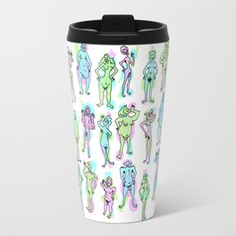 Nudie Dude-ies: A spectrum of fun and colorful naked people! Travel Mug
