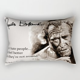 BUKOWSKI - people QUOTE #2 - sepia Rectangular Pillow