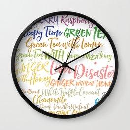 Ramona's Tea Wall Clock