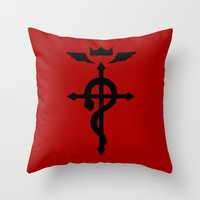 fullmetal Throw Pillows featuring Alchemy by KanaHyde