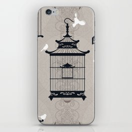 Mascara Empty Brid Cages iPhone Skin