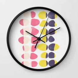 Painted Pebbles 3 Wall Clock