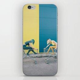 Y vs B iPhone Skin