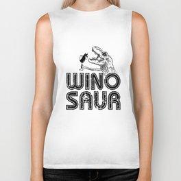 wino saur wine t-shirts Biker Tank