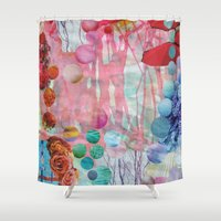 rain Shower Curtains featuring Rain by John Turck