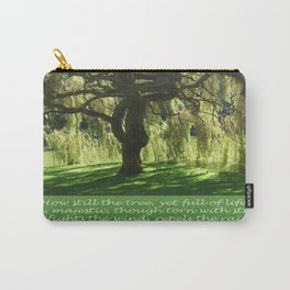 How Still the Tree Photograph and Prose Carry-All Pouch