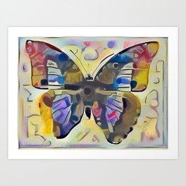 Kandinsky Butterfly Art Print