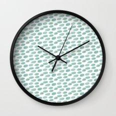 DOTS BLUE AND YELLOW  WATERCOLOUR Wall Clock