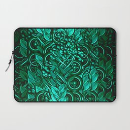Leafy pattern in Turquoise Laptop Sleeve
