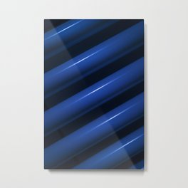 Heating pipes in blue closeup view Metal Print