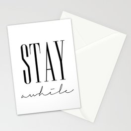 Stay Awhile Stationery Cards