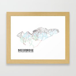 Breckenridge, CO - Minimalist Trail Map Gerahmter Kunstdruck