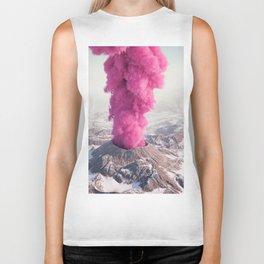 Pink Eruption Biker Tank