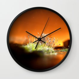 Face away from the oncoming storm Wall Clock