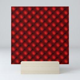 red velvet tufted pattern Mini Art Print
