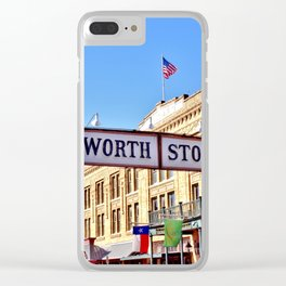 Fort Worth Stock Yards Clear iPhone Case