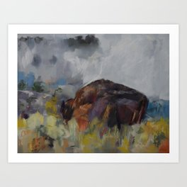 Buffalo at Yellowstone Art Print