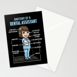 Anatomy Of A Dental Assistant Stationery Cards