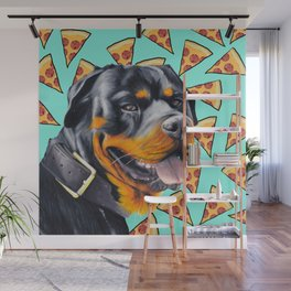 Rotty Pizza Wall Mural
