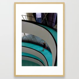 Circular waiting Framed Art Print