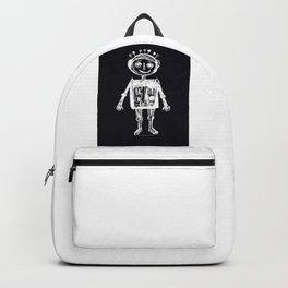 Little robot black-white illustration Backpack