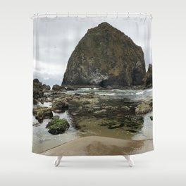 Haystack Rock Marine Garden Shower Curtain