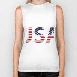 word United States of America Biker Tank