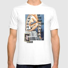 The North American Woman White MEDIUM Mens Fitted Tee