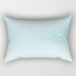 An illustration of the water bubbles background.  Rectangular Pillow