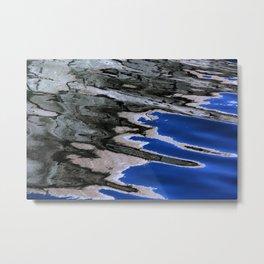 grey abstract water reflection Metal Print