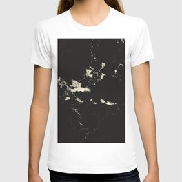 Black Marble and Blush Yellow #1 #decor #art #society6 T-shirt
