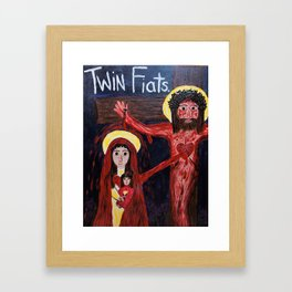 Twin Fiats Framed Art Print