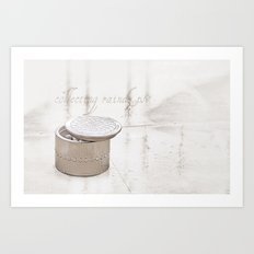 Collecting raindrops Art Print