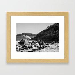 Sandy Beach, ME Framed Art Print