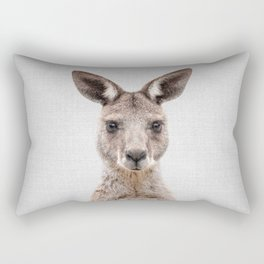 Kangaroo 2 - Colorful Rectangular Pillow