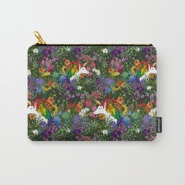 Unicorn in a Rainbow Garden Carry-All Pouch