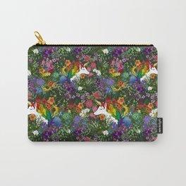 Unicorn in a Rainbow Garden Carry-All Pouch