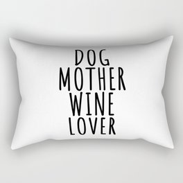 Dog Dogs Pet Gift puppy lover day owner best whelp Wine Alcohol Love Vino Red White Gift Party drink Rectangular Pillow