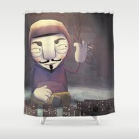 anonymous Shower Curtains featuring anonymous by Emilio Rizzo