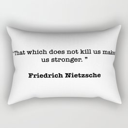 Friedrich Nietzsche Quote Rectangular Pillow