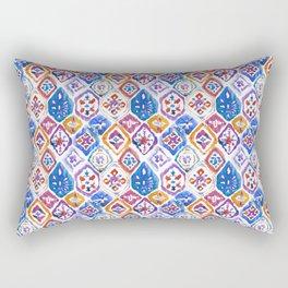 mosaic balinese ikat print mini Rectangular Pillow