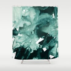 inkblot marble 4 Shower Curtain