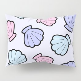 Mermaid Shells Pastel Pattern Pillow Sham