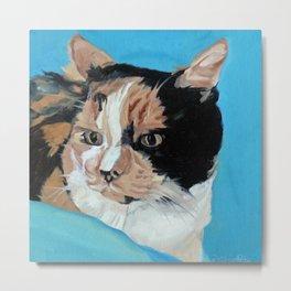 Calico Cat Original Painting Metal Print