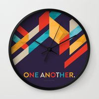 scripture Wall Clocks featuring One Another Scripture Poster: Romans 12 by Jess Creatives